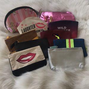 Lot of 10 Makeup Bags